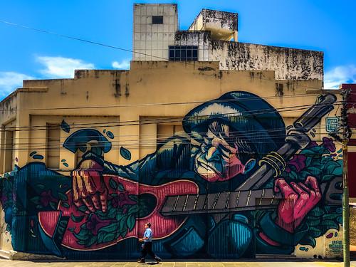 asunción paraguay py gebäude building wall wand art painting gemälde kunst