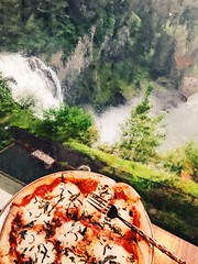 Pizza and the Best View of Snoqualmie Falls