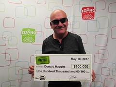 Donald Haggin - $100,000 - St. Patrick's Day Raffle - Nampa - Idaho Liquor Store