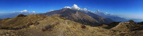 annapurnasouth dhaulagiri machhapuchhre montagnes muldhai nepal nilgiri panoramapanoramique tukcheri