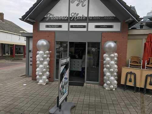 Ballonpilaar Breed Rond Famous Hair Rozenburg