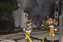 Firefighter Injured Battling Fire at Chatsworth Transitional Living Facility