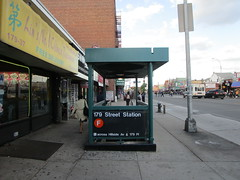 NYC Subway, 06/01/17: one of the entrances to the 179th Street station on the F line - this is one end of the route, which goes from Jamaica, Queens (179th Street) to Coney Island, Brooklyn (IMG_4639)