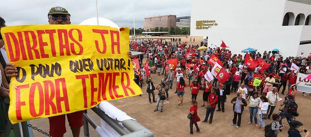 Manifestação fora Temer e diretas já no museu da república em Brasília - Créditos:  Lula Marques/AGPT