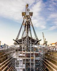 USS Constitution in Dry Dock
