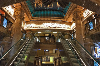London - Harrods Egyptian escalators