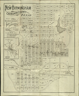 Map of New Birmingham, Texas