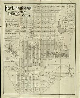 Map of New Birmingham, Texas