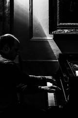 Olaf John Laneri, rehearsal, Sala delle Lunette, Casale Monferrato, Festival Echos 2017