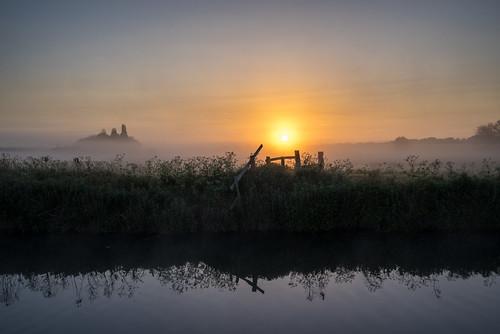 ancient daybreak grantchester foggy england mist grantchestermeadows old cambridgeshire thefens dawn uk europe eastanglia european sunrise