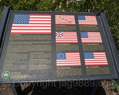 American Flag History Display, South Beach Boardwalk, Staten Island, New York City