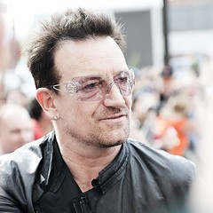 Bono, pre concert, 6 years ago. Outside the Four Seasons, Denver. Bucket List.