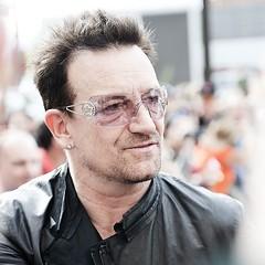 Bono, pre concert, 6 years ago. Outside the Four Seasons, Denver. Bucket List.