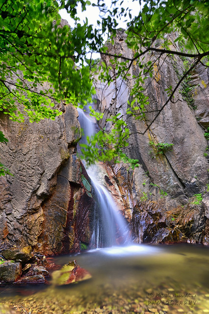 شلال سكاماين  جبال وغابات القل                           Skamayén Waterfall    Massif forest of Collo                         Cascade skamayén   Massif forestier de Collo