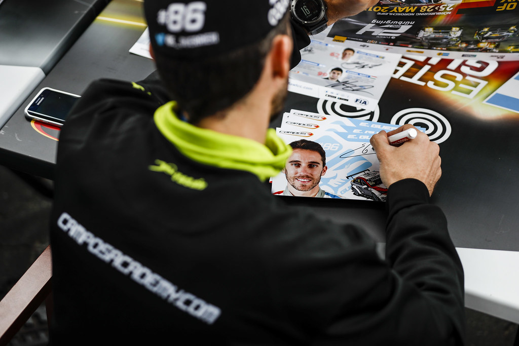 GUERRIERI Esteban (arg), Chevrolet RML Cruze team Campos racing, ambiance portrait autograph session during the 2017 FIA WTCC World Touring Car Race of Nurburgring, Germany from May 26 to 28 - Photo Florent Gooden / DPPI
