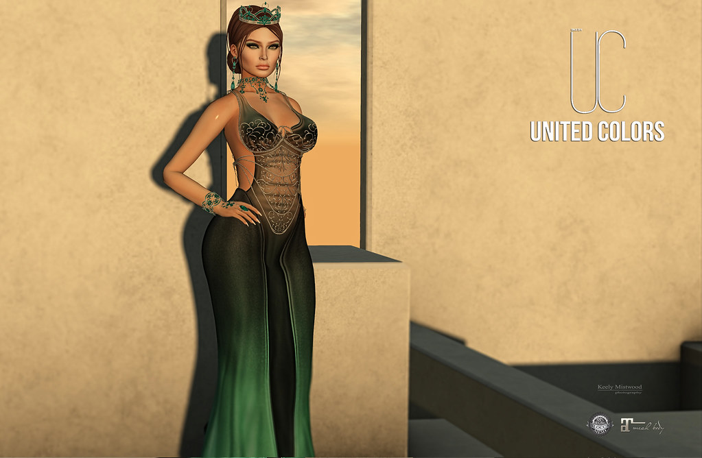 United Colors UC Ivyanna Gown available in 12 colors at Fameshed Event June1 . - SecondLifeHub.com