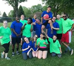 Last weeks office night, Kickball! #officefun #kickball #sillypic