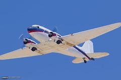 DC-3's final flight around Long Beach, CA