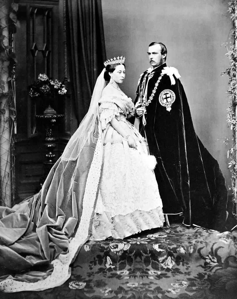 The Prince and Princess Louis of Hesse by John Jabez Edwin Mayall, 1863