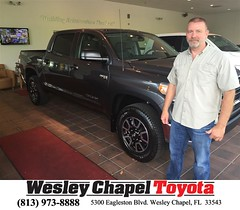 Happy Anniversary to Jimmie on your #Toyota #Tundra 4WD Truck from Glenn Deller at Wesley Chapel Toyota!
