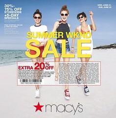 Macys One Day Sale June 20 - 25, 2017