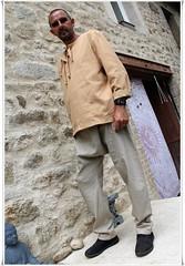 Tunique hommes et sarouel écologique en lin