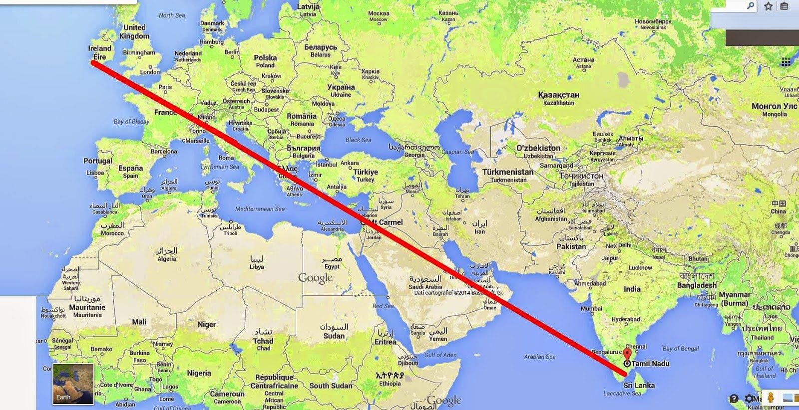 Các Ðền Thánh Micae làm thành đường thẳng trên bản đồ
