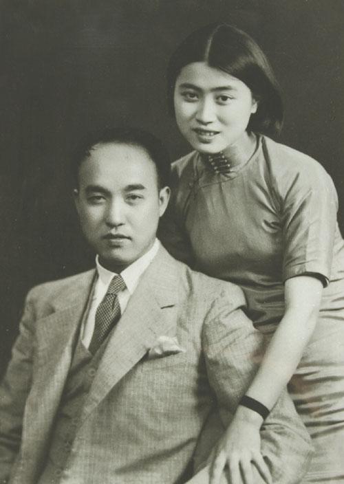 1933年12月胡風與妻子梅志(Wikimedia Commons)