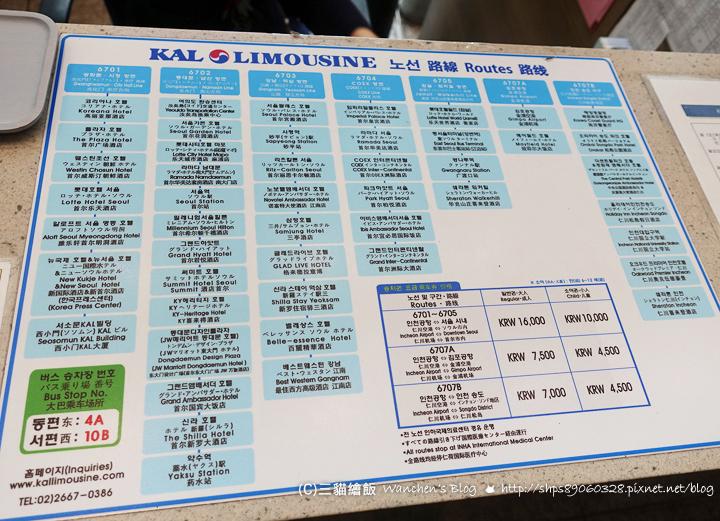 高級機場巴士KAL路線圖