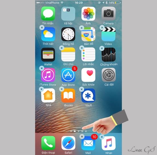 Hướng dẫn cách xóa các ứng dụng mặc định trên iOS 10