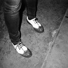 Red shoes.  #exploringthefrontier #Denver #Colorado #film #olympusxa2 #filmisnotdead #trix400