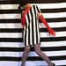 Stripey Self-Portrait by Maria Spadafora (@BloodyNoraDJ)