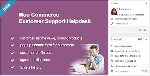 WooCommerce Helpdesk WordPress Plugin free download