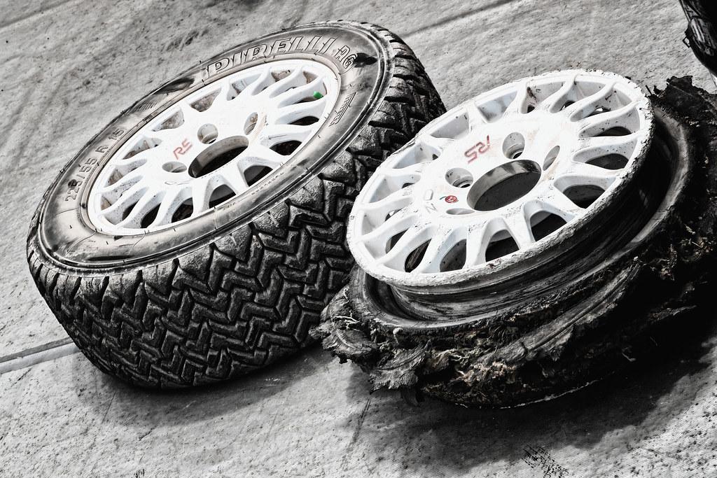 KAJETANOWICZ Kajetan (pol) and BARAN Jaroslaw (pol)  pneus tyres tyre during the European Rally Championship 2017 - Acropolis Rally Of Grece - Loutraki From June 2 to 4 in Loutraki - Photo Gregory Lenormand / DPPI