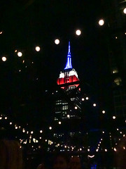 Empire State Buillding from Refinery Rooftop Bar, New York City