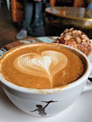 Hearty latte at Storyville Coffee