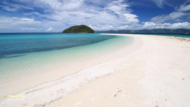 the sandbar at Bonbon Beach