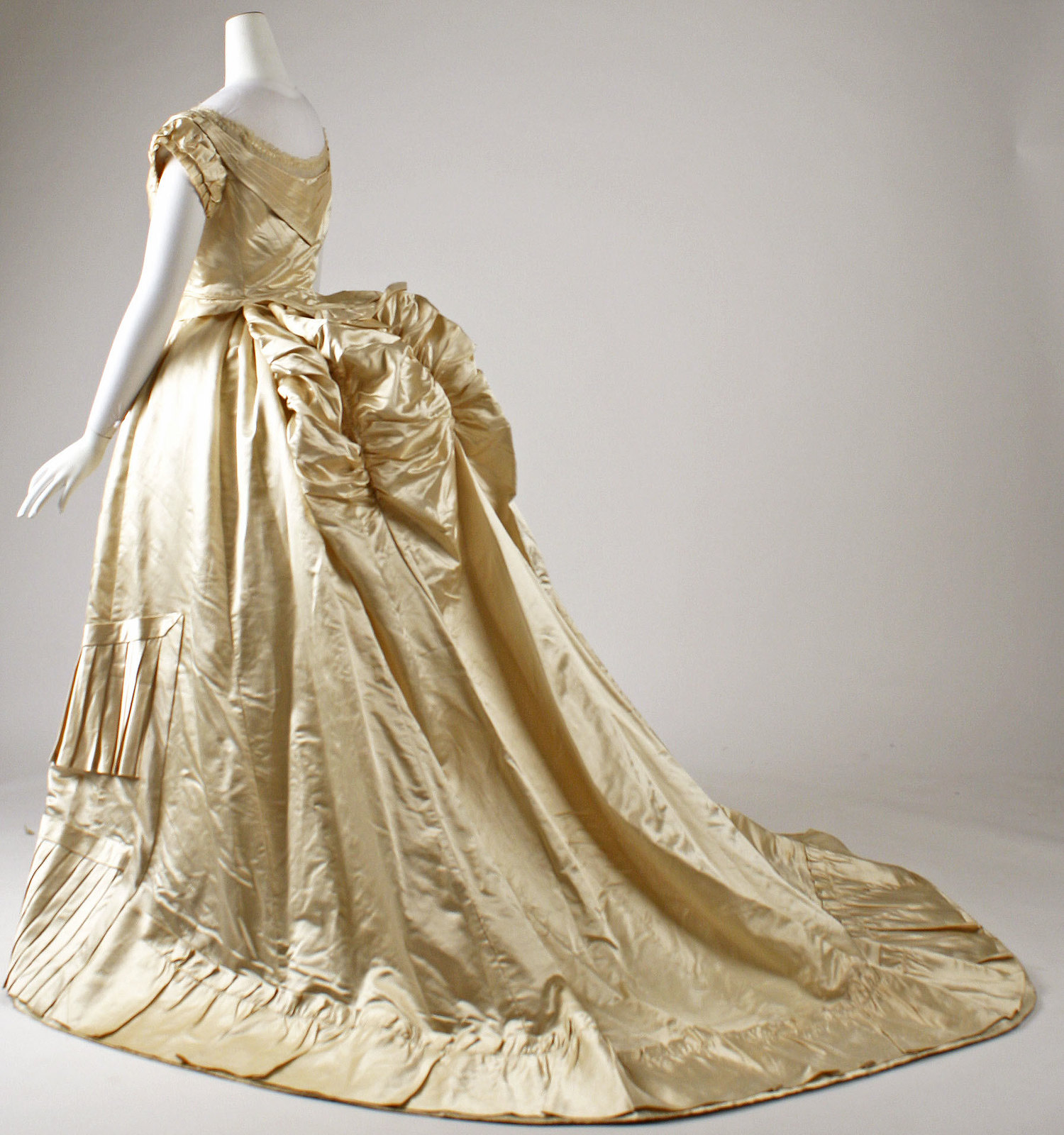 1876 Ball gown. French. Silk. metmuseum