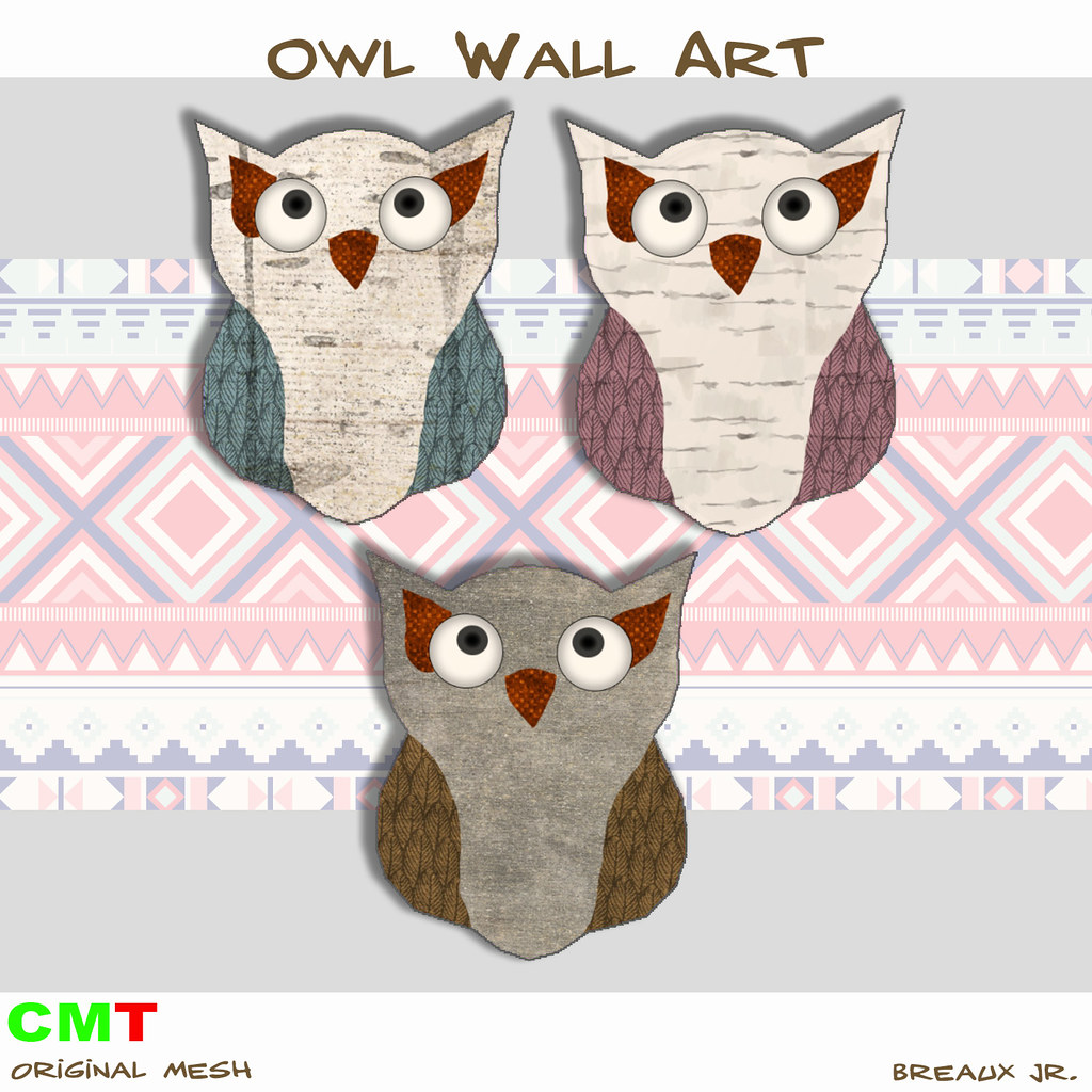 Owl Wall Art - SecondLifeHub.com