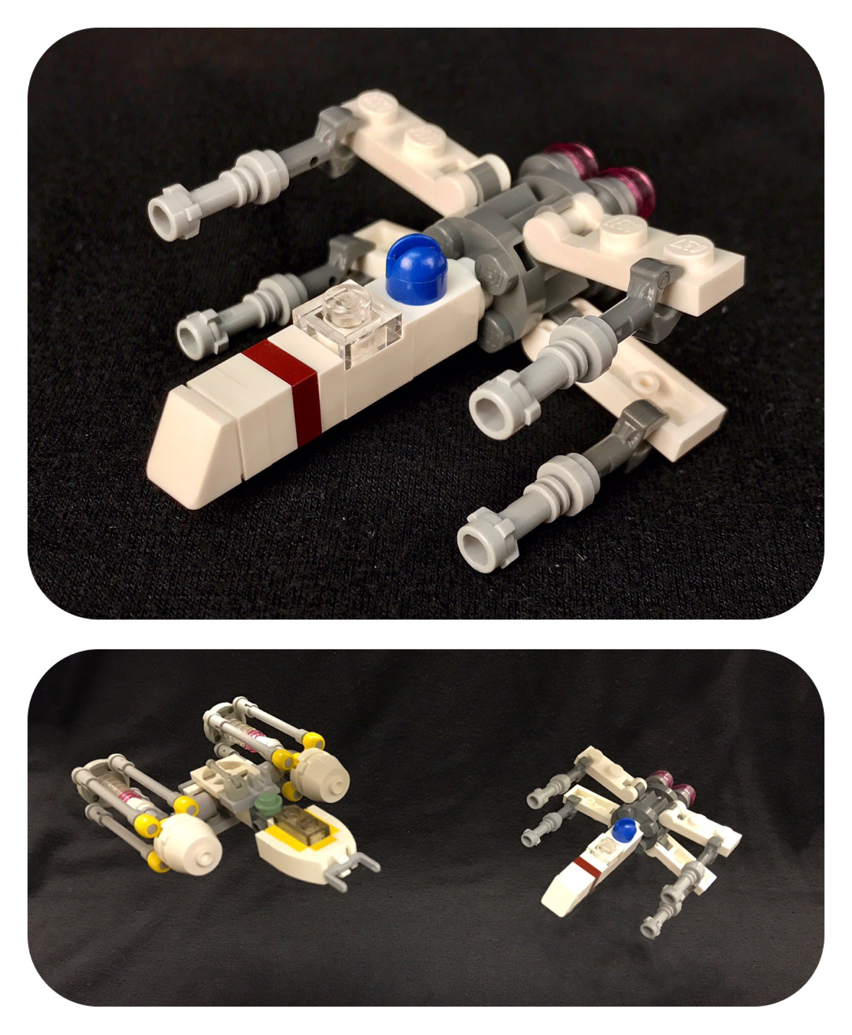 Micro-scale T-65 X-wing Fighter