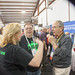 In the center, Ted Randall (WB8PUM) Host of the QSO Radio Show at Hamvention 2017