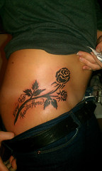 tribal rose tattoo