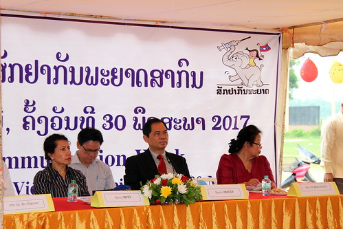 World Immunization Week 2017 at Ban Nongsonghong,  Xaythani District Vientiane Capital
