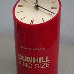 Wed, 2016-08-17 11:42 - Vintage Dunhill King Size 1970's 80's Cigarette Advertising Clock