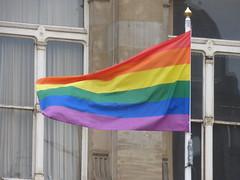Birmingham Pride - Gay flag - Victoria Square