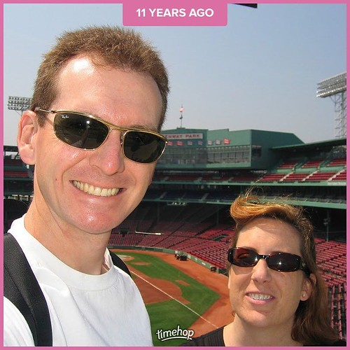 Years ago, our last trip before kids   Boston. We included a tour and a game at Fenway Park. . . #timehop #nokids #boston #redsox #fenwaypark #2006 #tourist