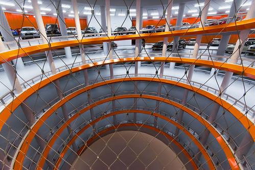 Orange parking garage (on Explore)