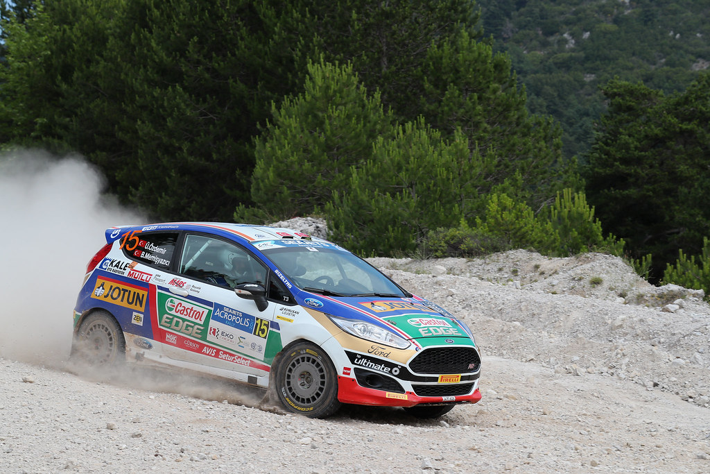 15 OZDEMIR Umitcan (tur) and MEMISYAZICI Batuhnan (tur) action during the European Rally Championship 2017 - Acropolis Rally Of Grece - From June 2 to 4 - Photo Gregory Lenormand / DPPI