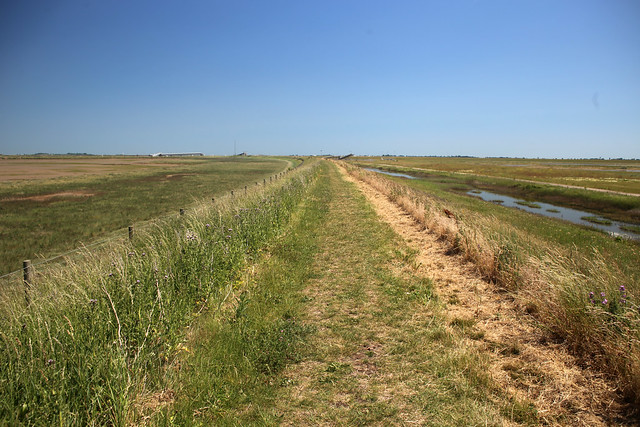 Path on the north coast of Wallasea Island