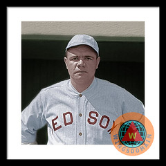 Babe Ruth Boston Red Sox Colorized
